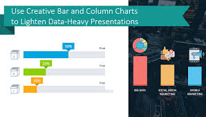 Use Creative Bar And Column Chart Templates To Lighten Data