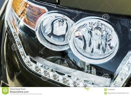 Toyota Highlander Parking Lights Headlights And Parking Lights Of A Truck Auto Stock Image