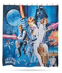 star wars posters shower curtains