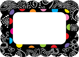 polka dot label templates free colorful bw name tags come in two styles and are