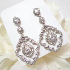 art deco chandelier earrings cz bridal earrings chandelier wedding earrings wedding jewelry vintage inspired earrings crystal earrings