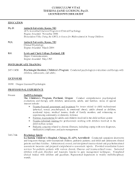 Cv Clinical Psychologist 3 4 Sample Cv 5 Egps Brooklyn