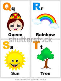 Free Alphabet Flash Cards Alphabet Printable Flashcards Collection Letter Q Stock