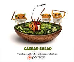 caesar salad dressing stabbed. Modren Dressing Caesar Salad By CryptidCreations  On Dressing Stabbed R