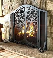 outdoor fireplace screens large tree of life fire screen with door collection accessories for fireplaces gas