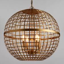Gold Orb 4 Light Stella Chandelier