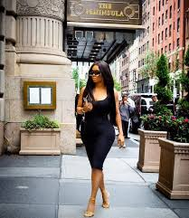 Curves new york Curvy Toke Makinwa And Her Curves Hit The Streets Of New York photo Radar Online Toke Makinwa And Her Curves Hit The Streets Of New York photo