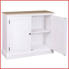 Sideboard Badezimmer 209992 Kommode Weiß Mit Lammellentüren
