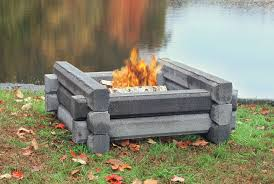 outdoor fire pit pre cast fireproof cement logs around the house outdoor fire cement and logs
