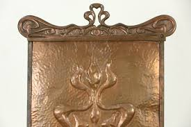 art nouveau or arts crafts 1900 antique copper fireplace screen