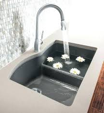 Granite Composite Sink Vs Stainless Steel Kitchen  Splash Galleries With Low Divide Bath L73