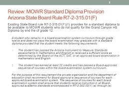 move on when ready standard diploma provision ppt  review mowr standard diploma provision arizona state board rule r7 2 315 01