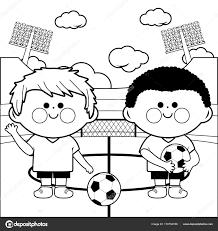 Voetbalspelers Kleurplaten