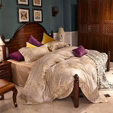 get ations qing indi home textiles european luxury satin jacquard bedding linen family of four luxury villa model