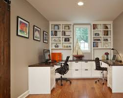 office built in. traditional home office in chicago with a built-in desk built e