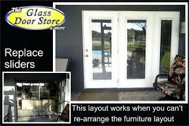 replace sliding glass door patio door replace luxury replace sliding glass door with french doors diy replacing sliding glass door with french door