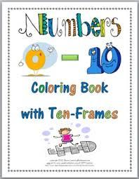 ten frame numbers coloring book numbers 0 10