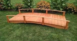 amish made garden bridge from