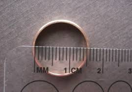 Measure Your Ring Size Silvery Sterling Silver Gold
