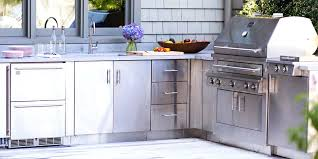 stainless steel outdoor kitchen best outdoor kitchen stainless steel cabinets awesome kitchen remodel ideas with outdoor
