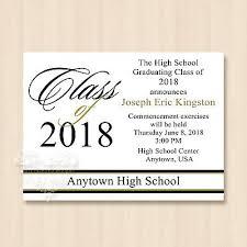 commencement invitations 2018 high school college university graduation invitations