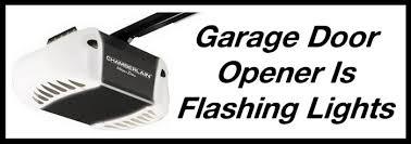 garage door opener flashing led light door not moving