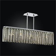 rectangular glass chandelier odyssey 624dm5lsp 7c
