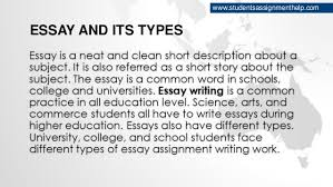 all types of essay co types of essays
