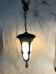 antique large slag glass porch hall pendant light hanging lamp nice victorian outdoor