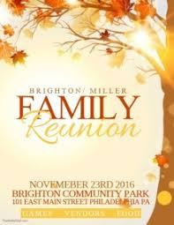 Family Reunion Flyer Templates Free 900 Customizable Design Templates For Family Reunion Postermywall