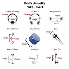 Labret Size Chart Nose Ring Gauge Online Charts Collection
