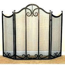 wrought iron fireplace screen decorative screens s doors