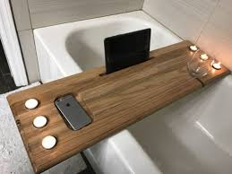 scenic bathroom rustic bathtub caddy bath techethe tray wood canada nz bathroom with post