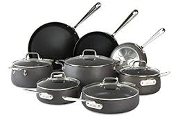 is anodized cookware safe.  Cookware AllClad Nonstick Cookware Set Pots And Pans 13 Piece Hard On Is Anodized Safe E