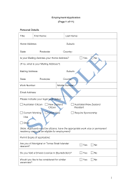 employment application form sample lawpath what does the employment application form cover