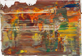 from the mid 1980s richter began to use a home made squeegee to rub and se the paint that he had applied in large bands across his canvases