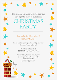 Company Christmas Party Invites Templates Vibrant Christmas Party Invitation Template