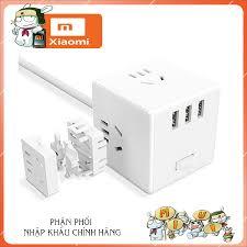 Ổ cắm điện xiaomi mijia rubik kèm 3 cổng sạc usb 18w nhanh - Ổ cắm điện  thông minh xiaomi tại Hà Nội