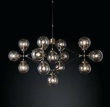 rh modern lighting moderns bistro globe clear glass lattice our chandelier glass bulbs are reminiscent of rh modern lighting