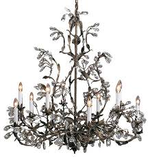 wrought iron chandelier with swarovski crystal