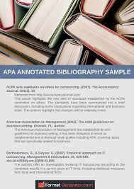 Apa Annotated Bibliography Generator Format Generator
