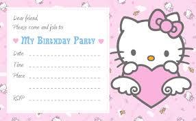 Hello Kitty Invitation Printable Hello Kitty Printable Birthday Invitations Birthday Invitation For