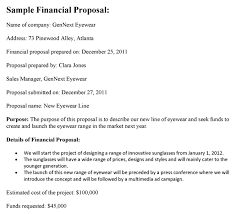 Financial Proposal Sample Doc - Henrycmartin.com