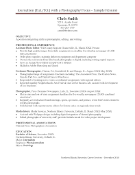 Photographer Resume Sample Sample photographer resume scope of work template cosy examples 3