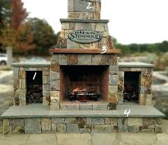outdoor wood burning fireplace outdoor stone wood burning fireplace kits