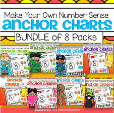 Making 10 Anchor Chart Numbers 1 10 Make Your Own Anchor Charts Bundle Of 8 Packs