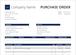 Free Purchase Order Template Excel Purchase Order Template Word Download Free At Cfi