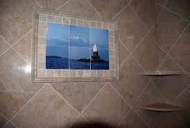ceramic printing custom tile shower mural