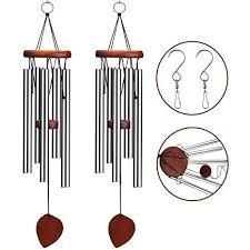 venkoda 2 pack amazing grace wind chimes outdoor personalized mother memorial birthday gifts for sympathy porch