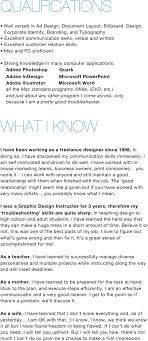 Freelance Graphic Designer Resume Fiveoutsiders Com